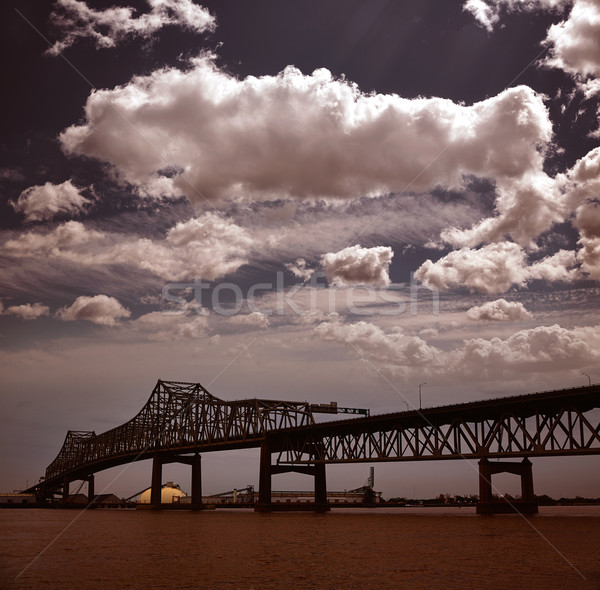 Louisiana Horace Wilkinson Bridge Mississippi river Stock photo © lunamarina