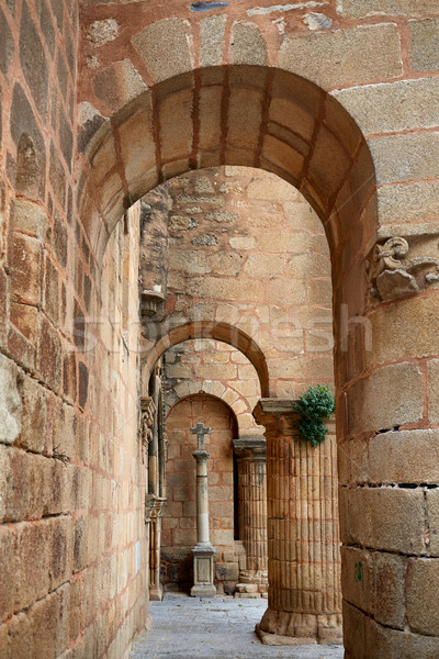 Caceres church of Santiago in Spain Stock photo © lunamarina