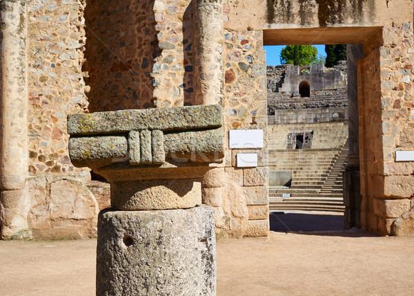 Merida in Badajoz Roman amphitheater Spain  Stock photo © lunamarina