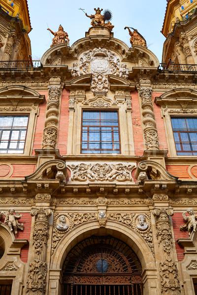 Stock photo: San Luis church facade in Seville of Spain