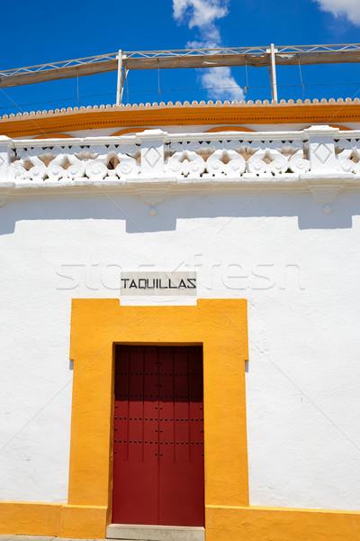 Igazi épület város homok állat bika Stock fotó © lunamarina