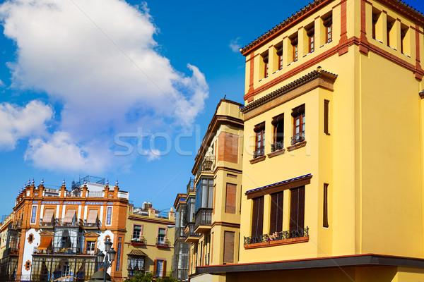 Triana barrio Seville facades Andalusia Spain Stock photo © lunamarina