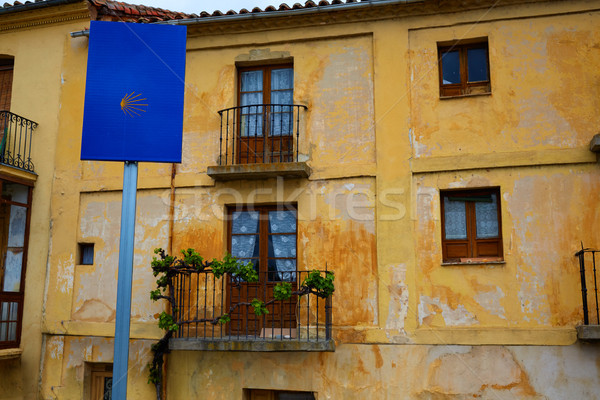 Façon saint signe Espagne vieux ville Photo stock © lunamarina