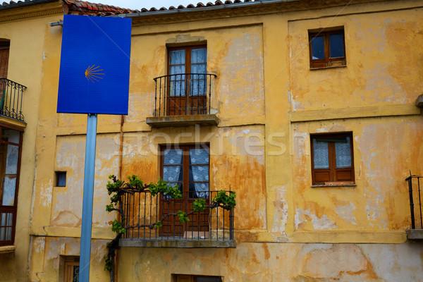 Yol aziz imzalamak İspanya eski şehir Stok fotoğraf © lunamarina