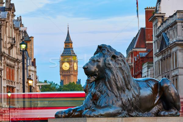 Foto d'archivio: Londra · piazza · leone · Big · Ben · torre · strada