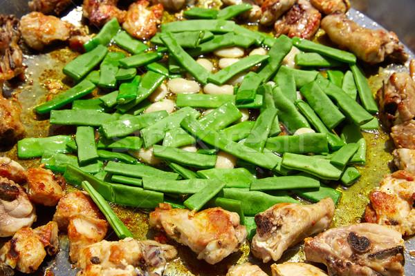 スペイン レシピ プロセス 野菜 広告 サヤインゲン ストックフォト © lunamarina