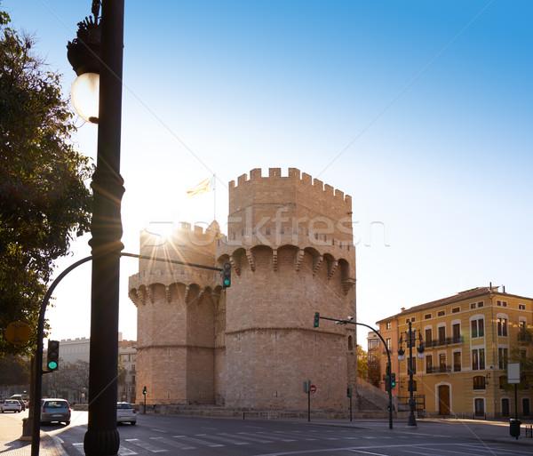 Serrano torres Valência velho cidade porta Foto stock © lunamarina