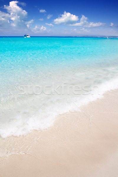 Illetes Formentera East beach tropical turquoise Stock photo © lunamarina