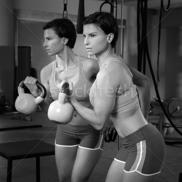 Crossfit fitness femme miroir Photo stock © lunamarina