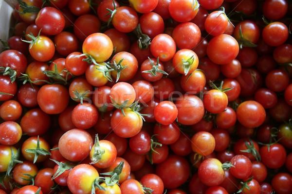 Resumo textura padrao vermelho cereja tomates Foto stock © lunamarina