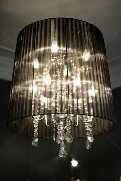 Vintage lampadario lampada design barocco arte Foto d'archivio © lunamarina