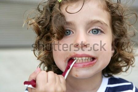 Portret piękna teen girl odkryty summertime dziewczyna Zdjęcia stock © lunamarina