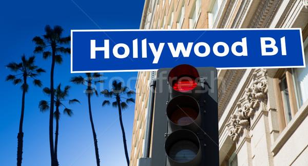 Hollywood segno illustrazione palme business alberi Foto d'archivio © lunamarina