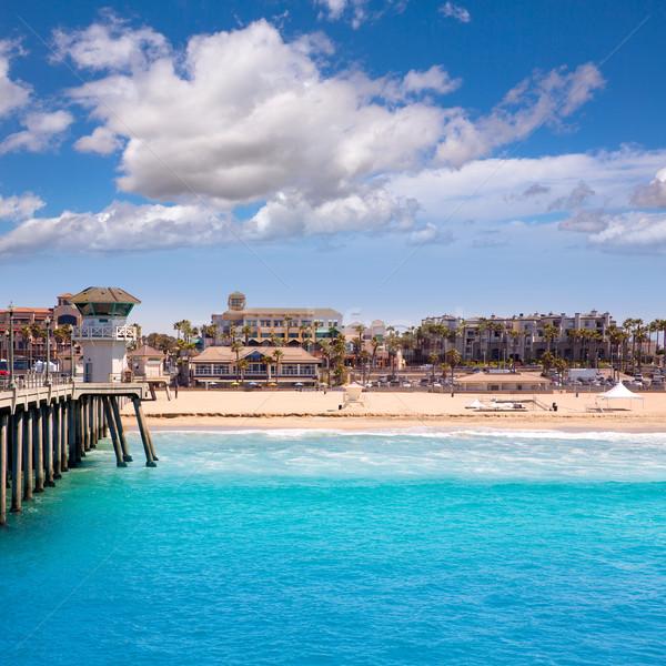 ビーチ サーフィン 市 米国 桟橋 ライフガード ストックフォト © lunamarina