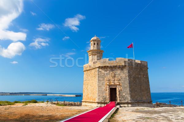 Ciutadella Castell de Sant Nicolas Castillo San Nicolas Stock photo © lunamarina