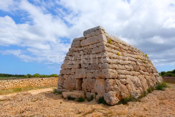 Menorca Ciutadella Naveta des Tudons megalithic tomb Stock photo © lunamarina