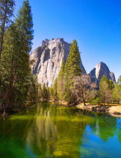 Yosemite rzeki kopuła California niebo Zdjęcia stock © lunamarina