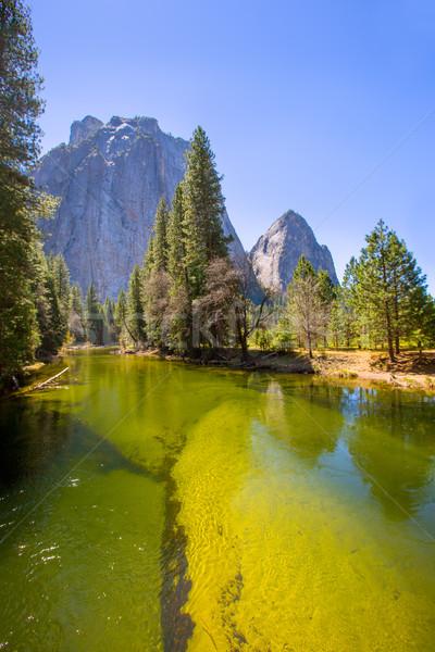 Yosemite rio metade cúpula Califórnia céu Foto stock © lunamarina