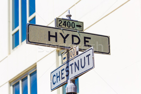 San Francisco segnale stradale California USA costruzione Foto d'archivio © lunamarina