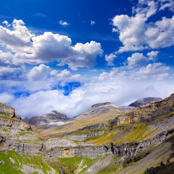 Monte Perdido Valle de Ordesa in Soaso circus Pyrenees Huesca Stock photo © lunamarina