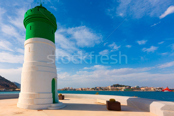 Beacon Cartagena lighthouse in Murcia Spain Stock photo © lunamarina
