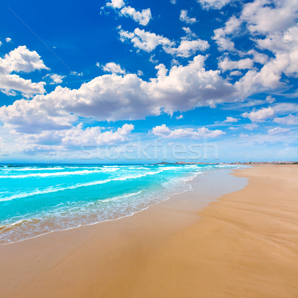 La manga strand Spanje wolken landschap Stockfoto © lunamarina