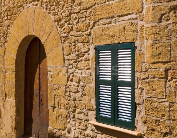 Foto stock: Cidade · velha · mallorca · ilha · Espanha · porta · fundo