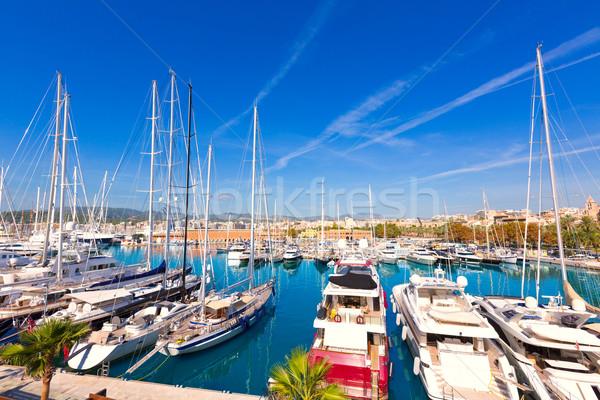ストックフォト: マヨルカ島 · ポート · マリーナ · 島 · スペイン · 空