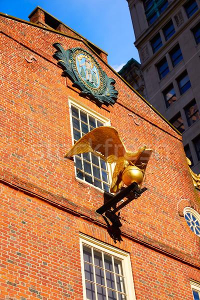 Бостон старые дома Массачусетс США небе Сток-фото © lunamarina