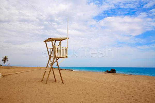 ビーチ 地中海 海 スペイン ライフガード 水 ストックフォト © lunamarina