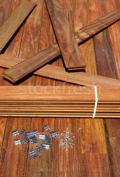 Pont bois installation texture maison rétro Photo stock © lunamarina