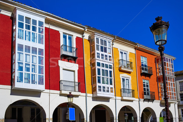 Burgos Street Santander arcades in Castilla Leon of Spain Stock photo © lunamarina