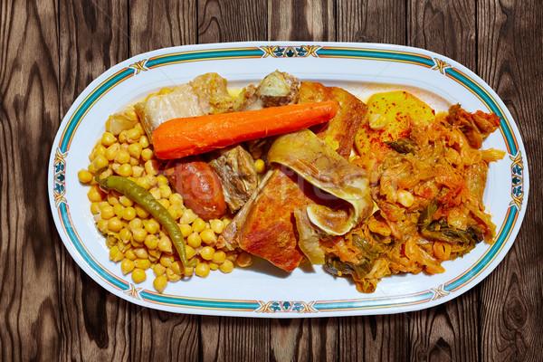 レシピ スペイン 食品 レストラン 油 ストックフォト © lunamarina