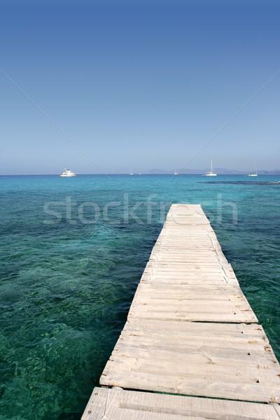 Formentera island near Ibiza in Mediterranean Stock photo © lunamarina