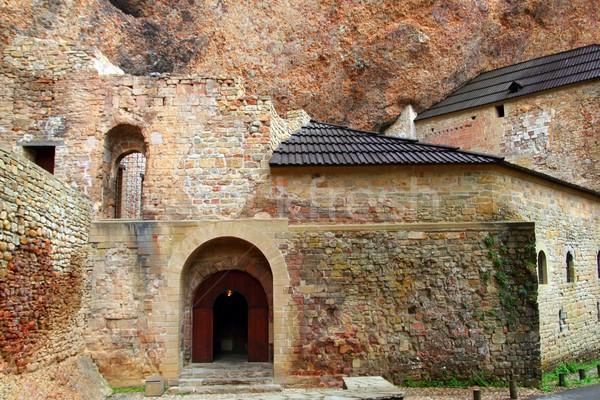 San Juan de la Pena romanesque Monastery Stock photo © lunamarina