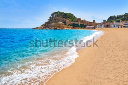 Tossa de Mar Codolar beach platja in Costa Brava Stock photo © lunamarina