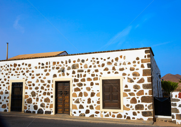 Fuerteventura house in Lajares Canary Islands Stock photo © lunamarina