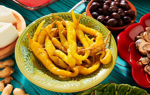 Tapas augurken azijn middellandse zee Spanje Stockfoto © lunamarina