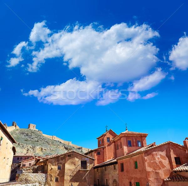 Medieval ciudad España pueblo pared calle Foto stock © lunamarina