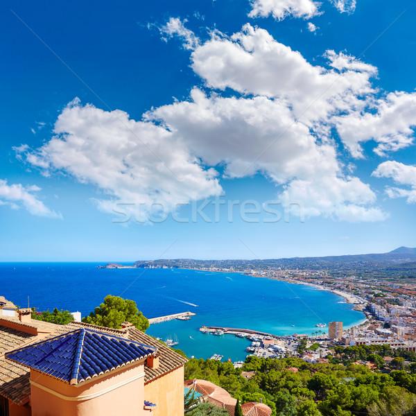 деревне антенна Средиземное море Испания морем Сток-фото © lunamarina