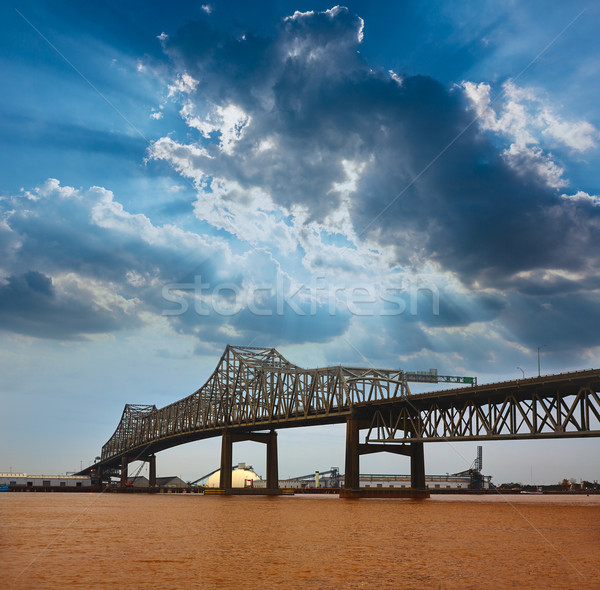 Louisiana híd Mississippi folyó államközi USA Stock fotó © lunamarina