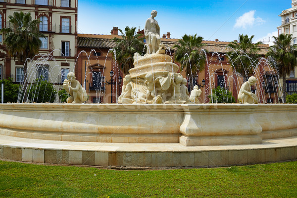 Seville Puerta Jerez fountain in Andalusia Stock photo © lunamarina