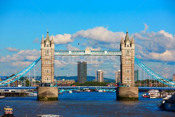 Londres Tower Bridge thames rivière Angleterre ville Photo stock © lunamarina