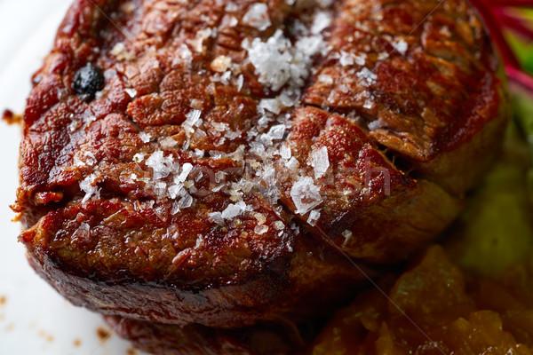 Kalfsvlees lendenen gegrild Rood keuken Stockfoto © lunamarina