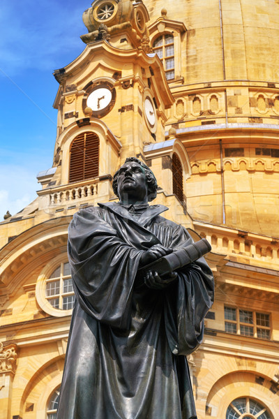 Дрезден статуя Германия город Церкви путешествия Сток-фото © lunamarina