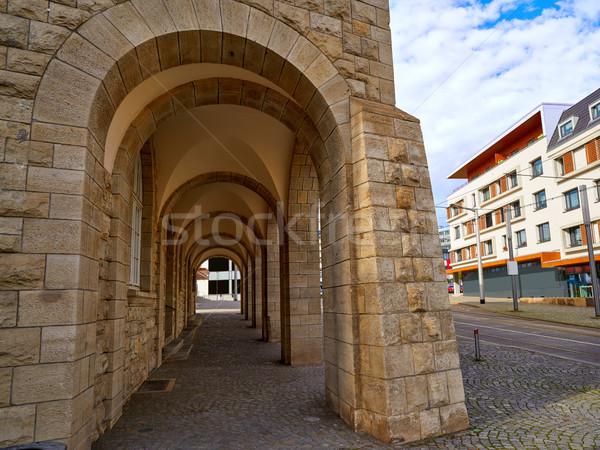 Nordhausen stadthaus archs in Harz Germany Stock photo © lunamarina