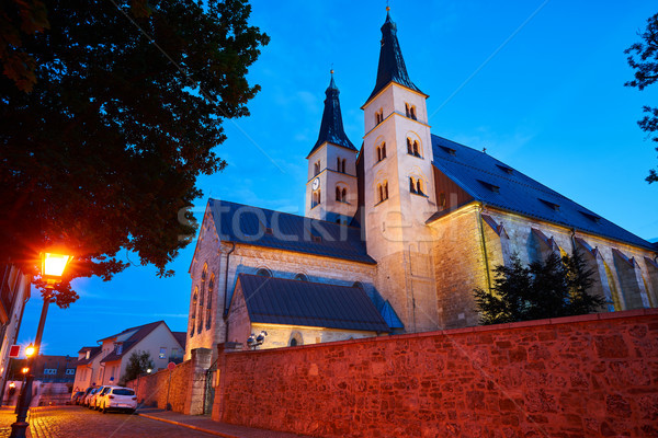 święty krzyż katedry Niemcy wygaśnięcia niebo Zdjęcia stock © lunamarina