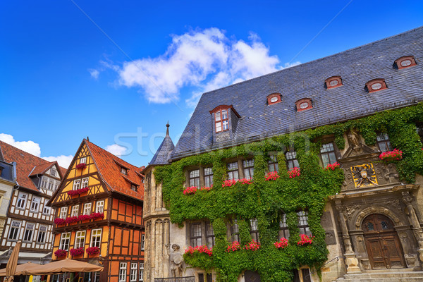 фасад Германия небе город улице синий Сток-фото © lunamarina