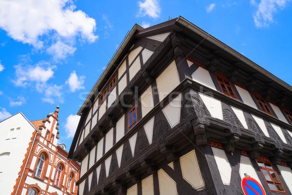 Stock photo: Quedlinburg city facades in Harz Germany