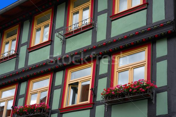 Allemagne bâtiment mur montagnes Europe vacances Photo stock © lunamarina